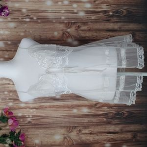 Victoria's Secret white tie front sheer lingerie